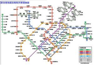 新加坡輕軌及列車路線圖