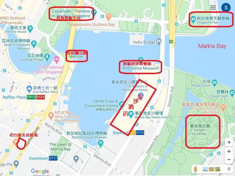 濱海灣地圖