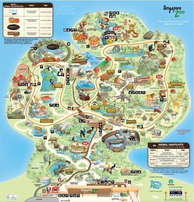新加坡動物園地圖